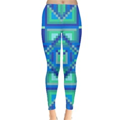 Grid Geometric Pattern Colorful Leggings