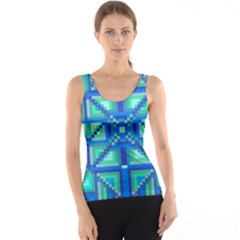 Grid Geometric Pattern Colorful Tank Top