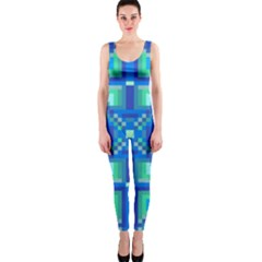 Grid Geometric Pattern Colorful OnePiece Catsuit