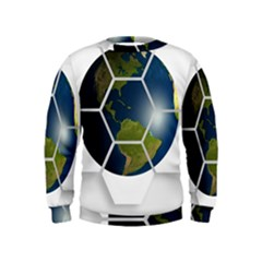 Hexagon Diamond Earth Globe Kids  Sweatshirt