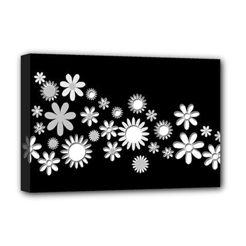 Flower Power Flowers Ornament Deluxe Canvas 18  X 12