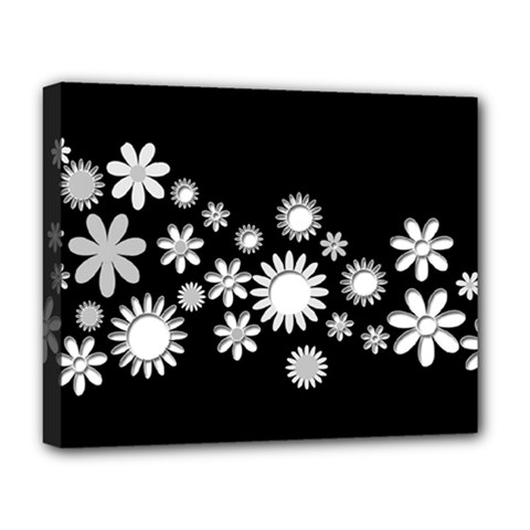 Flower Power Flowers Ornament Deluxe Canvas 20  x 16