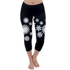 Flower Power Flowers Ornament Capri Winter Leggings
