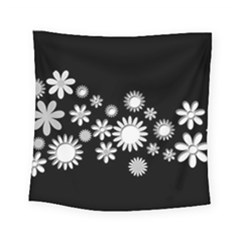 Flower Power Flowers Ornament Square Tapestry (Small)