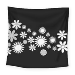 Flower Power Flowers Ornament Square Tapestry (Large)
