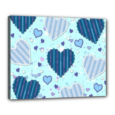 Hearts Pattern Paper Wallpaper Canvas 20  X 16