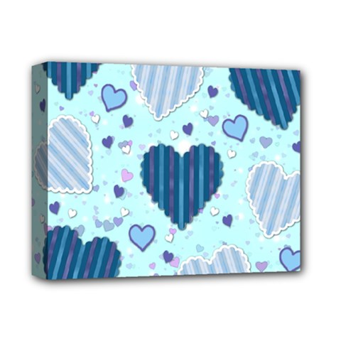 Hearts Pattern Paper Wallpaper Deluxe Canvas 14  X 11