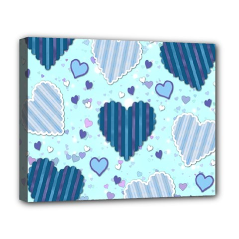 Hearts Pattern Paper Wallpaper Deluxe Canvas 20  x 16