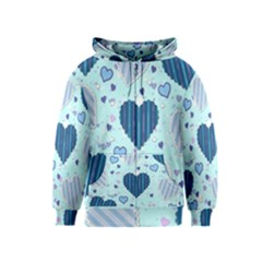 Hearts Pattern Paper Wallpaper Kids  Zipper Hoodie