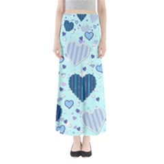 Hearts Pattern Paper Wallpaper Maxi Skirts