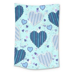 Hearts Pattern Paper Wallpaper Large Tapestry