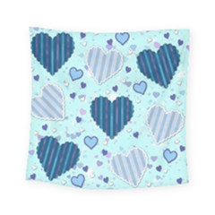 Hearts Pattern Paper Wallpaper Square Tapestry (small)
