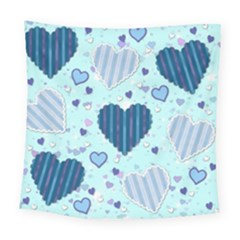 Hearts Pattern Paper Wallpaper Square Tapestry (Large)