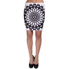 Mandala Geometric Symbol Pattern Bodycon Skirt