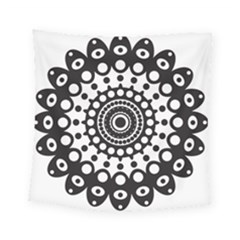 Mandala Geometric Symbol Pattern Square Tapestry (Small)
