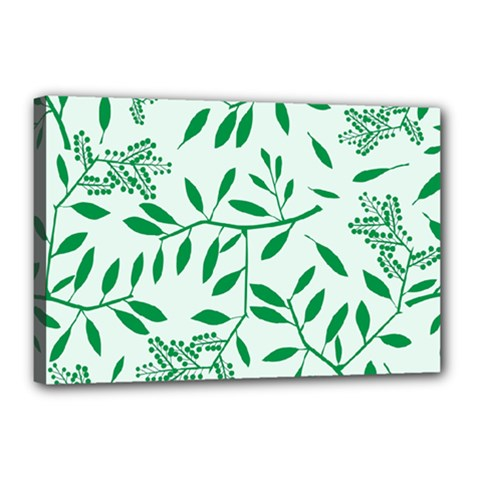 Leaves Foliage Green Wallpaper Canvas 18  x 12