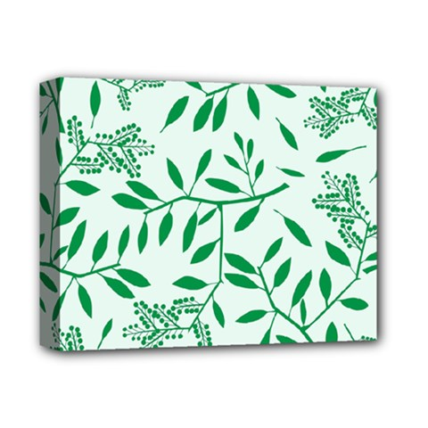 Leaves Foliage Green Wallpaper Deluxe Canvas 14  x 11