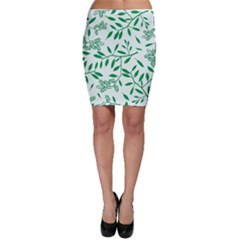 Leaves Foliage Green Wallpaper Bodycon Skirt