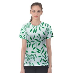 Leaves Foliage Green Wallpaper Women s Sport Mesh Tee