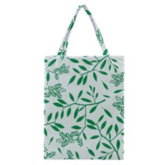 Leaves Foliage Green Wallpaper Classic Tote Bag