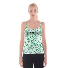 Leaves Foliage Green Wallpaper Spaghetti Strap Top