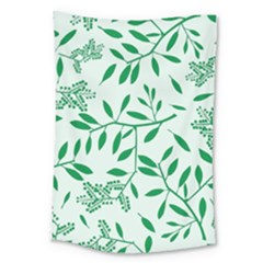 Leaves Foliage Green Wallpaper Large Tapestry