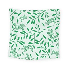 Leaves Foliage Green Wallpaper Square Tapestry (small)
