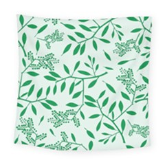 Leaves Foliage Green Wallpaper Square Tapestry (large)