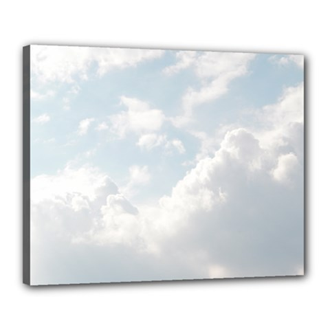 Light Nature Sky Sunny Clouds Canvas 20  X 16