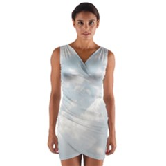 Light Nature Sky Sunny Clouds Wrap Front Bodycon Dress