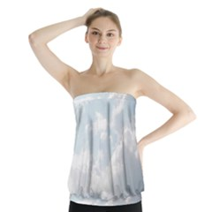 Light Nature Sky Sunny Clouds Strapless Top