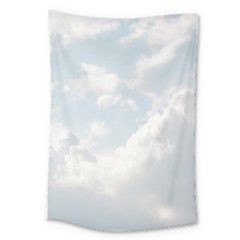 Light Nature Sky Sunny Clouds Large Tapestry