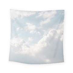 Light Nature Sky Sunny Clouds Square Tapestry (Small)