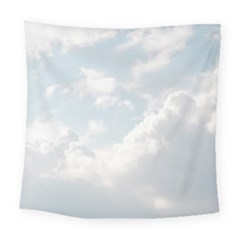 Light Nature Sky Sunny Clouds Square Tapestry (large)