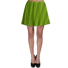 Green Leaf Pattern Plant Skater Skirt