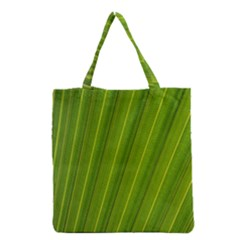 Green Leaf Pattern Plant Grocery Tote Bag