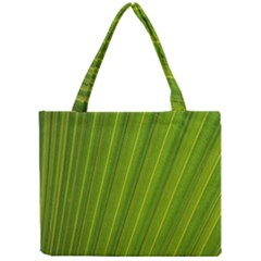 Green Leaf Pattern Plant Mini Tote Bag