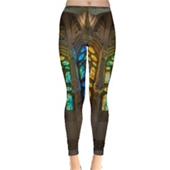 Leopard Barcelona Stained Glass Colorful Glass Leggings