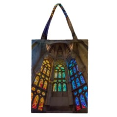 Leopard Barcelona Stained Glass Colorful Glass Classic Tote Bag