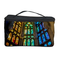 Leopard Barcelona Stained Glass Colorful Glass Cosmetic Storage Case