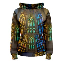 Leopard Barcelona Stained Glass Colorful Glass Women s Pullover Hoodie