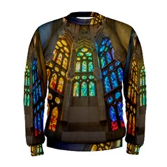 Leopard Barcelona Stained Glass Colorful Glass Men s Sweatshirt
