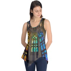 Leopard Barcelona Stained Glass Colorful Glass Sleeveless Tunic