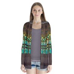 Leopard Barcelona Stained Glass Colorful Glass Cardigans