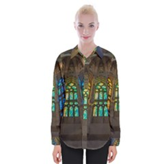 Leopard Barcelona Stained Glass Colorful Glass Shirts