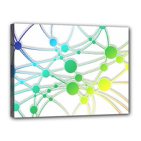 Network Connection Structure Knot Canvas 16  x 12