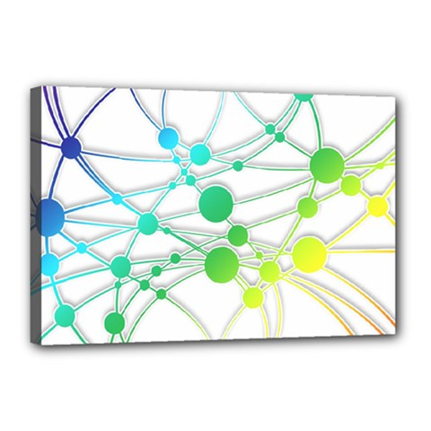 Network Connection Structure Knot Canvas 18  X 12