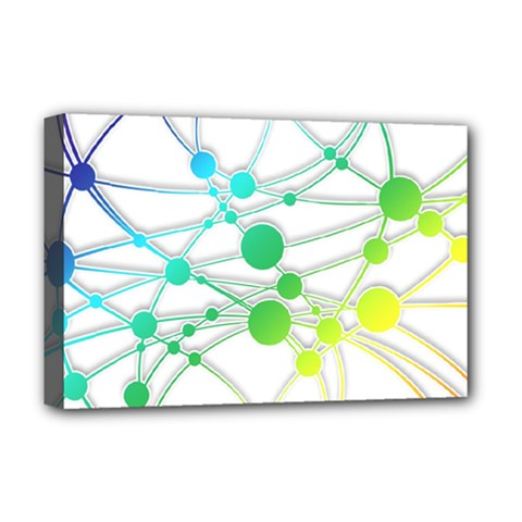Network Connection Structure Knot Deluxe Canvas 18  x 12