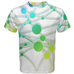 Network Connection Structure Knot Men s Cotton Tee