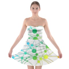 Network Connection Structure Knot Strapless Bra Top Dress